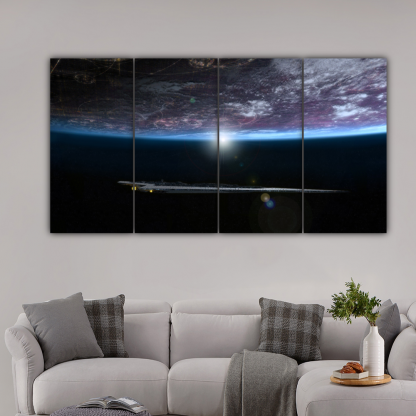 4 Panels Underneath The Planet Multi Canvas Art