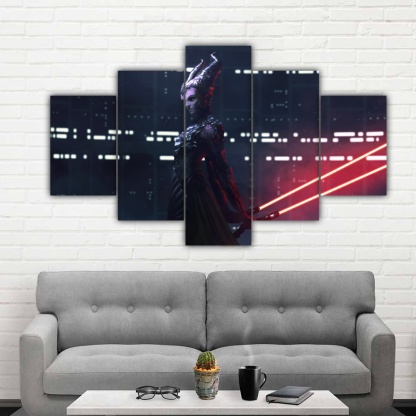 5 Panels Unidentified enemy Multi Canvas Art