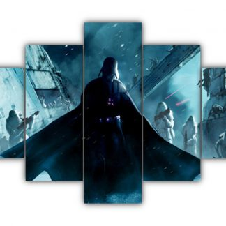 5 Panels Vader and Snowtroopers Multi Canvas Art