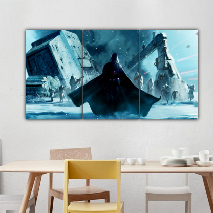 3 Panels Vader and Snowtroopers Multi Canvas Art