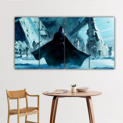 4 Panels Vader and Snowtroopers Multi Canvas Art