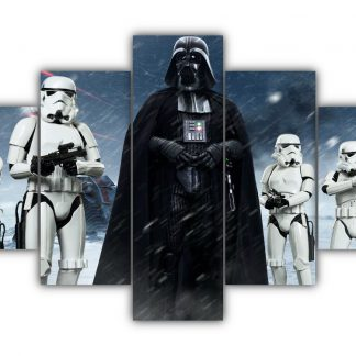 5 Panels Vader and Stormtroopers Multi Canvas Art
