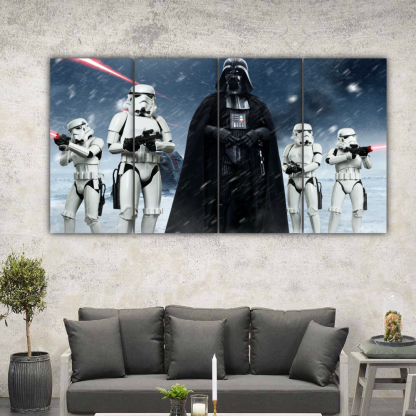 4 Panels Vader and Stormtroopers Multi Canvas Art