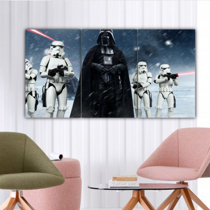 3 Panels Vader and Stormtroopers Multi Canvas Art
