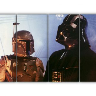 4 Panels Vaders Meets Boba Fett Multi Canvas Art