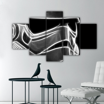 5 Panels Vigilant Stormtrooper II Multi Canvas Art