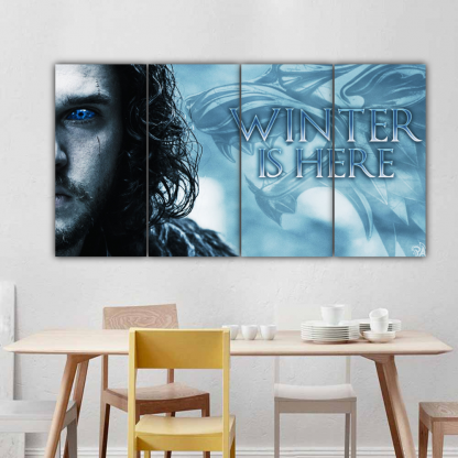 4 Panels Winter Is Here Multi Canvas Art