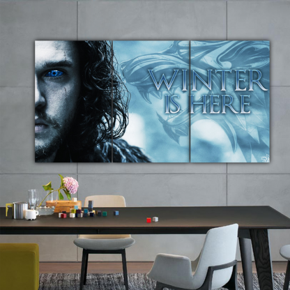 3 Panels Winter Is Here Multi Canvas Art