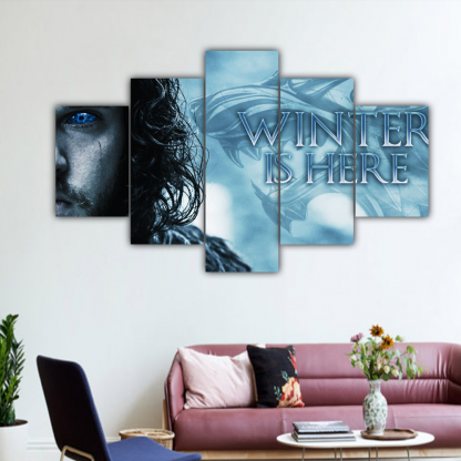 5 Panels Winter Is Here Multi Canvas Art
