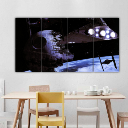 4 Panels Wrecked Star Destroyer Multi Canvas Art