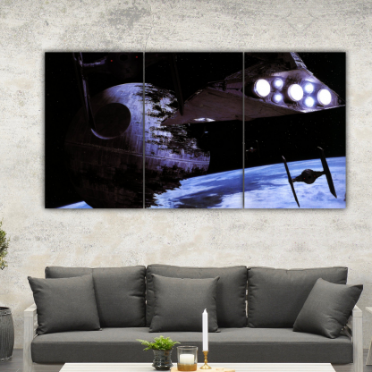 3 Panels Wrecked Star Destroyer Multi Canvas Art