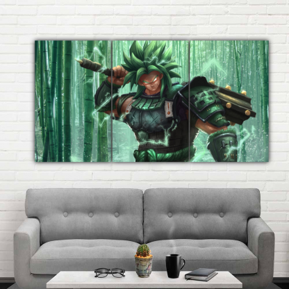 3 Panels Broly Multi Canvas Art