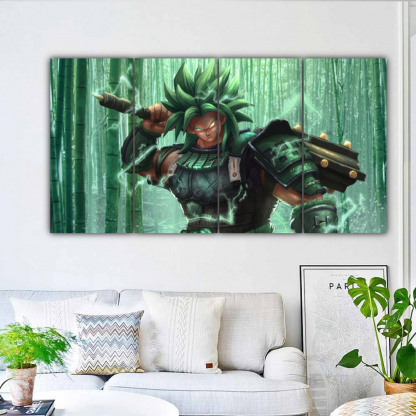 4 Panels Broly Multi Canvas Art