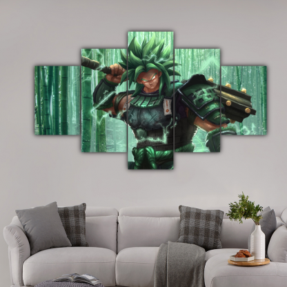 5 Panels Broly Multi Canvas Art