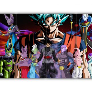 4 Panels Dragon Ball Super Multi Canvas Art