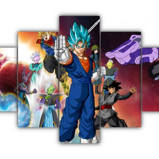 5 Panels Dragon Ball Super Multi Canvas Art