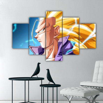 5 Panels Future Trunks SSJ3 Multi Canvas Art