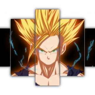 5 Panels Gohan SSJ2 Multi Canvas Art
