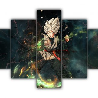 5 Panels Goku Black Multi Canvas Art