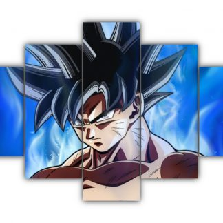 5 Panels Goku Ultra Instinct Multi Canvas Art