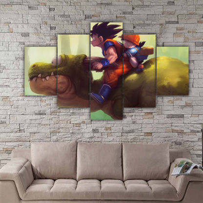 5 Panels Goku and Gohan Multi Canvas Art