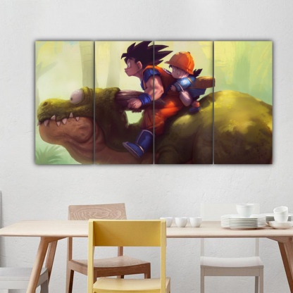 4 Panels Goku and Gohan Multi Canvas Art