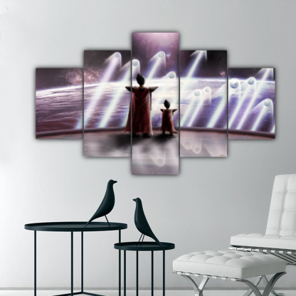 5 Panels The King and Prince of all Saiyans Multi Canvas Art