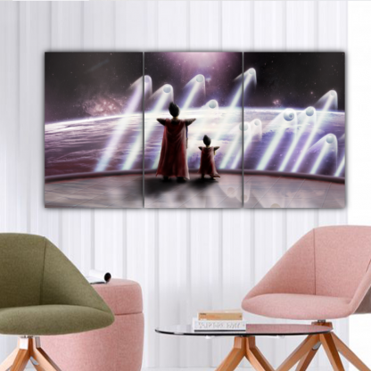 3 Panels The King and Prince of all Saiyans Multi Canvas Art